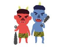 ` Giapponese sveglio di oni del ` del demone, illustrazione 3D, Immagine Stock