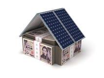 Giapponese Yen Energy Saving Fotografia Stock Libera da Diritti
