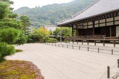 Giapponese Zen Garden, tempio di Tenryuji Fotografia Stock