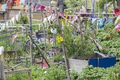 Giardinaggio urbano immagini stock