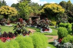 Giardini al castello di Wentworth Fotografia Stock Libera da Diritti