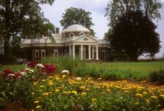 Giardini a casa del Jefferson a Monticello Fotografie Stock Libere da Diritti