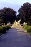Giardini Cesky Krumlov, Repubblica ceca Fotografia Stock