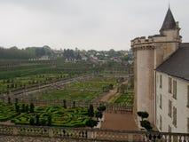 Giardini convenzionali al castello di Villandry in Loire Valley Francia Fotografia Stock Libera da Diritti