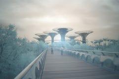 Giardini dalla baia, infrared, esposizione lunga Fotografia Stock Libera da Diritti