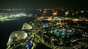 Giardini dalla baia Singapore stock footage