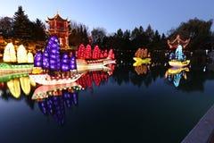 Giardini dei giardini botanici diLuminoso Montreal Fotografia Stock Libera da Diritti