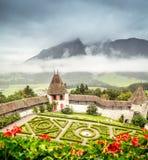 Giardini del castello Immagine Stock