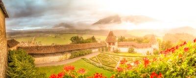 Giardini del castello Immagine Stock Libera da Diritti