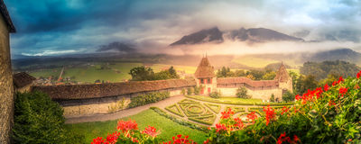 Giardini del castello Immagini Stock