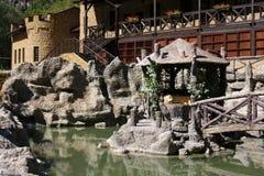 Giardini del castello di amore e del mestiere Immagini Stock Libere da Diritti