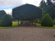 Giardini del castello di Glamis Immagine Stock