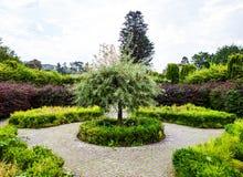 Giardini del castello di Margam, balene immagine stock