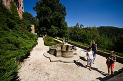 Giardini del castello Polonia di Ksiaz Fotografie Stock