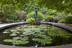 Giardini del conservatorio del Central Park fotografia stock