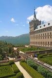 Giardini del monastero del EL Escorial. immagini stock