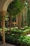 Giardini del palazzo di Alhambra Fotografia Stock Libera da Diritti
