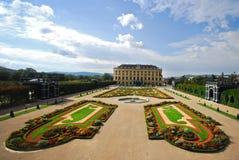 Giardini del palazzo di Schonbrunn Fotografie Stock Libere da Diritti