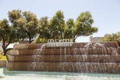 Giardini dell'acqua a Fort Worth, TX, U.S.A. Immagine Stock