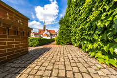 Giardini dell'isola di Tumsky nella città di Wroclaw Fotografie Stock Libere da Diritti
