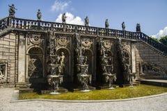 Giardini della cascata di Herrenhauzen Immagini Stock Libere da Diritti