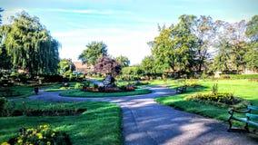 Giardini della cattedrale di Peterborough fotografia stock