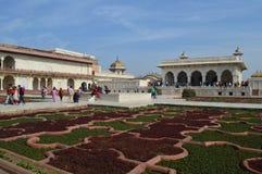 Giardini della fortificazione di Agra Fotografia Stock Libera da Diritti
