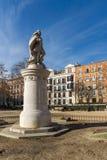 Giardini della villa de Parigi della plaza in città di Madrid, Spagna immagini stock libere da diritti