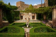 Giardini di Alcazaba Fotografia Stock Libera da Diritti