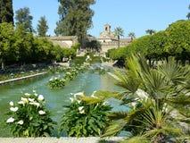 Giardini di alcazar a Cordova, Spagna Fotografia Stock