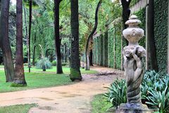 Giardini di alcazar, Siviglia Fotografia Stock Libera da Diritti
