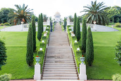 Giardini di Bahai Fotografie Stock Libere da Diritti