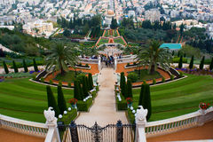 Giardini di Bahai Fotografia Stock