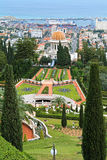 Giardini di Bahai con il santuario del Bab a Haifa, Israele Immagine Stock Libera da Diritti