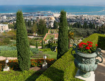 Giardini di Bahai a Haifa, Israele Immagini Stock Libere da Diritti