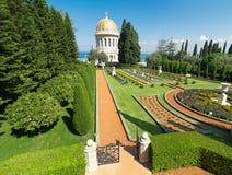Giardini di Bahai a Haifa, Israele Fotografia Stock Libera da Diritti