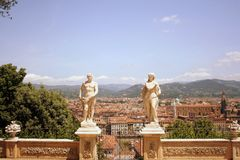 Giardini di Bardini in Italia Immagine Stock