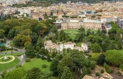 Giardini di Città del Vaticano Fotografia Stock