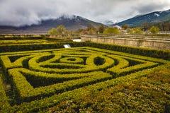 Giardini di EL Escorial del monastero fotografie stock libere da diritti