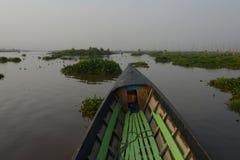 GIARDINI DI GALLEGGIAMENTO DELL'ASIA MYANMAR NYAUNGSHWE Immagini Stock Libere da Diritti