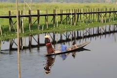 GIARDINI DI GALLEGGIAMENTO DELL'ASIA MYANMAR NYAUNGSHWE Fotografia Stock Libera da Diritti