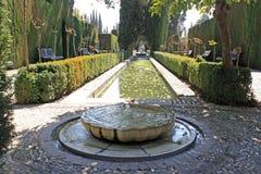 Giardini di Generalife fotografia stock