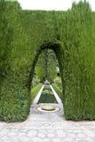 Giardini di lusso a Alhambra Immagine Stock