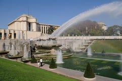 Giardini di Parigi Trocadero immagini stock libere da diritti