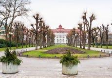 Giardini di Smetana - Smetanovy sady a Karlovy Vary bohemia immagini stock libere da diritti