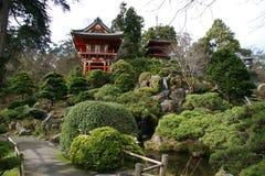 Giardini di tè giapponesi Fotografia Stock