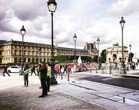 Giardini di Tuilleries e del Louvre a Parigi Immagini Stock