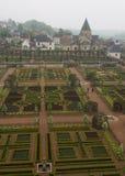 Giardini di Villandry in Loire Valley della Francia Immagine Stock Libera da Diritti