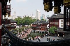 Giardini di Yuyuan, Shanghai - Cina fotografia stock libera da diritti