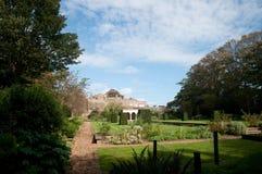 Giardini e castello Immagini Stock